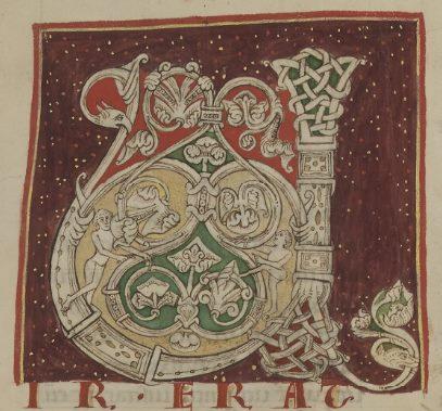 Lettrine U décorée [MS 7 feuillet 3, recto