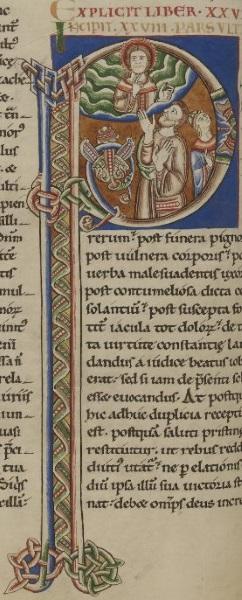 Lettrine P historiée [MS 9 feuillet 55, verso