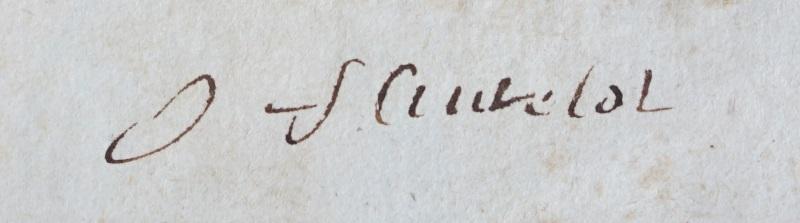 Ex-libris manuscrit de Fleutelot